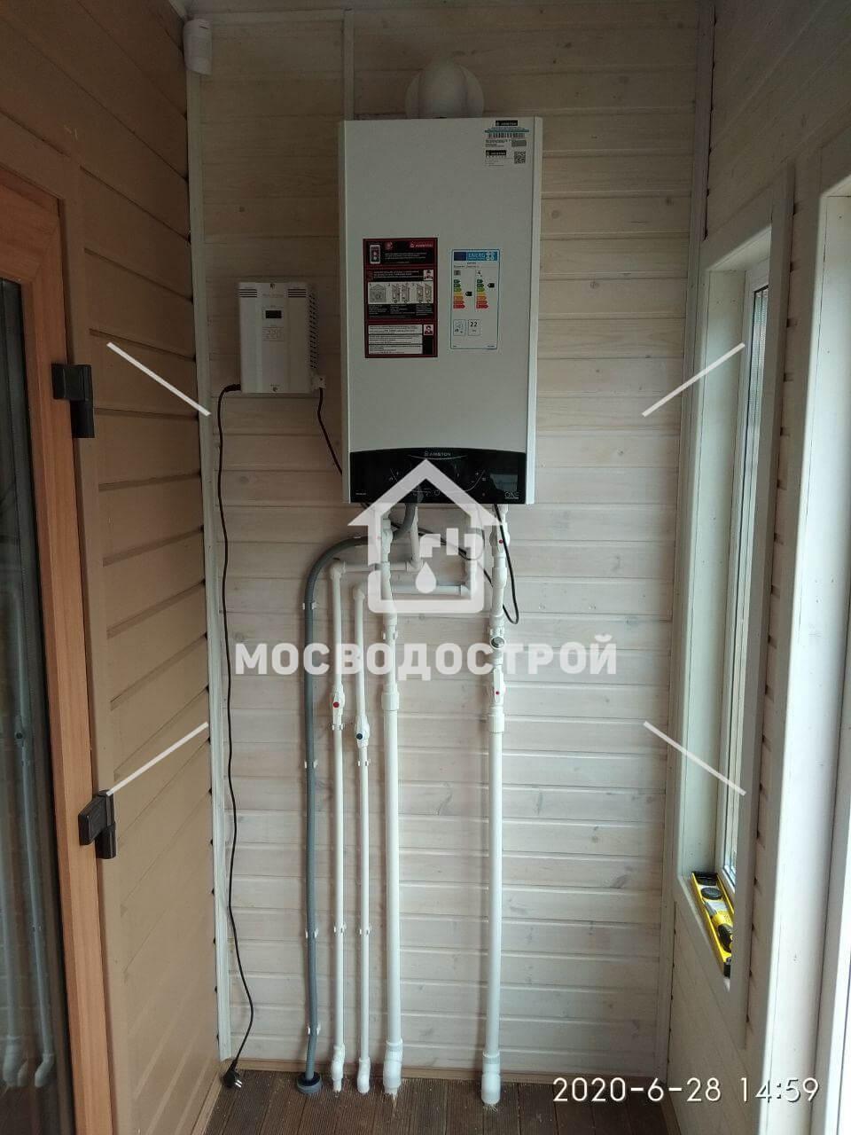 Автономное отопление загородного дома под ключ в Пушкино