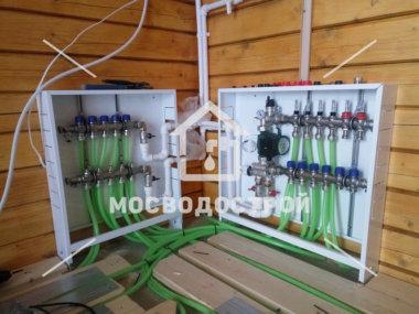 монтаж коллекторной группы отопления в доме